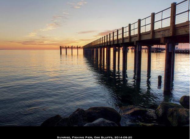 2014-08-20 Sunrise, Fishing PIer, Oak Bluffs